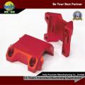 Kundenspezifische Fahrrad-Stamm CNC-Aluminium zerteilt rote anodisierende CNC-Prägeteile