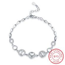 2017 Joyería de moda Te amo pulsera de acero esterlina 925 diseño 5.2g romántico para las mujeres