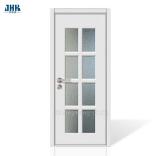 JHK Interior Doors Slab Frosted Glass French Doors