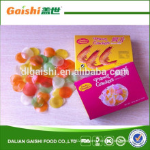 2017 colored dried prawn crackers in china