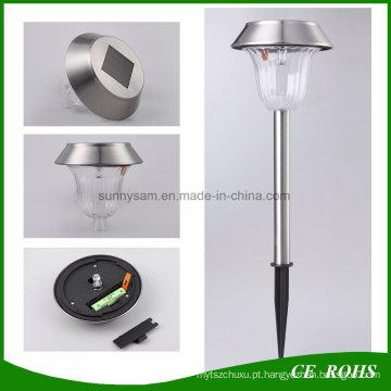 Aço inoxidável Solar Powered Stake Light Lâmpada de jardim Post Solar Lawn Lamp Solar Pathway Light