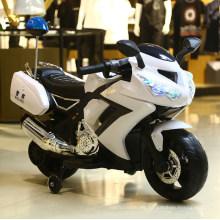 Paseo eléctrico de 3 ruedas en motocicletas plásticas de la policía del juguete para los niños