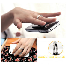 movable multi-function finger ring holder for mobile phone