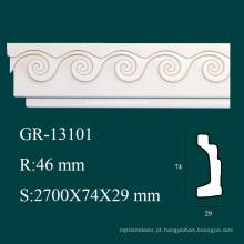 Material de construção Cornija arquitetônica de PU para decoração de interiores de casa