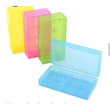 Boîte de batterie en plastique de couleur différente de vente chaude