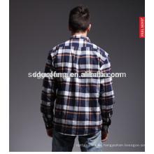 Tela lisa 100% algodón franela para camisas de hombre
