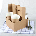 Kraft Paper Coffee Cup Stand Easy to Assemble