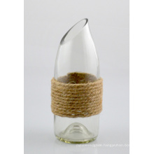 Glass Vase with Jute Rope