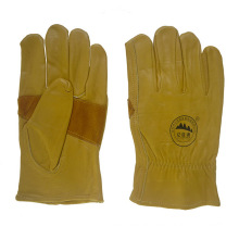 Reinforment Palm Leather Safety Workers Working Driving Gloves