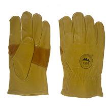 Reforço Palm Leather Safety Trabalhadores Trabalhando Luvas de condução