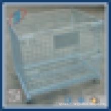 Cage de rangement métallique à grille métallique verrouillable