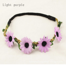 Elastic Flower Floral Hair Band Garland (HEAD-347)