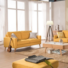 Ensemble de canapé chandelier jaune Chesterfield 321 Seaf