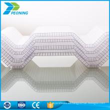 resistente a prueba de agua de bajo costo pc cubierta cubierta de policarbonato corrugado techo