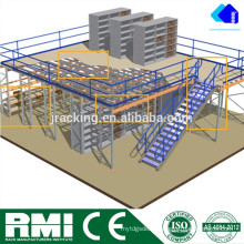 Jracking Uso en el interior Heavy Duty Mezzanine Storage Shevling Racking