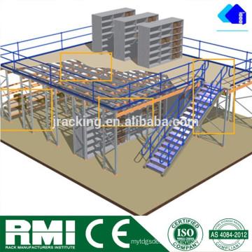 Jacking Innengebrauch Heavy Duty Mezzanine Storage Shevling Racking