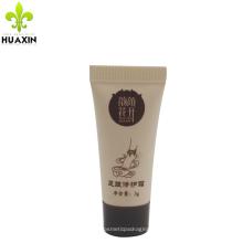 Amostra vazia macia de alta qualidade personalizado 3 g tubo de reparação de pé de cosméticos
