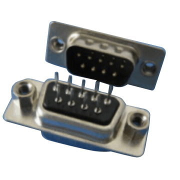 D-SUB PCB Female Dual Row Straddle Type (دبوس مختوم)