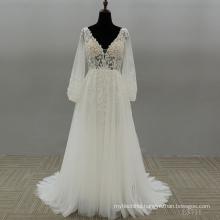Ladies Lace a line Clothes Garment Bridal Dresses Gown Wedding Dress