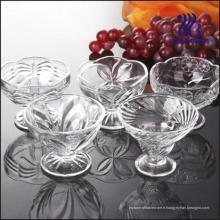 Coupe de crème glacée en verre spirale (GB1003ZS)