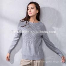 suéter de lana de punto de cable suéter de niña de diseño de nuevo