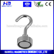 High pull force of Neodymium Pot Magnet With Hook