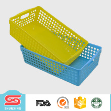 Custom durable plastic multipurpose rectangle storage basket for sale