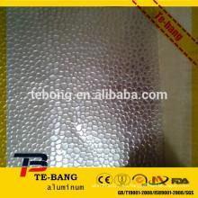Hoja de aluminio estampada de estuco de alta calidad laminada