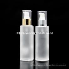 Großhandel leere 100ml 120ml 150ml mattierte Glasflasche für Kosmetik mit Spray Pump Stock