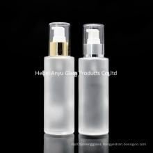 Wholesale Empty 100ml 120ml 150ml Frosted Glass Bottle for Cosmetic with Spray Pump Stock