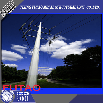 60FT 18M Galvanized Polygon Electric Steel Pole