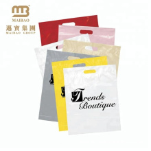 Wholesale Cheap Custom Printed Die Cut & Patch Handle 12X15 Plastic Merchandise Bags With Handles