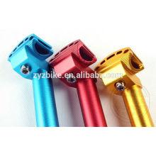 Односкоростной велосипед Алюминиевый многоцветный прилавок для сиденья 25,4 / 27,2 / 28,6 / 30,6 * 300 мм
