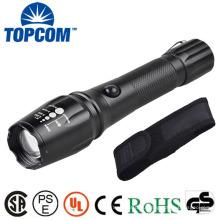 TP-1877 XML T6 / U2 LED Мощный свет / Zoomable фонарик власти с нейлоновой сумкой
