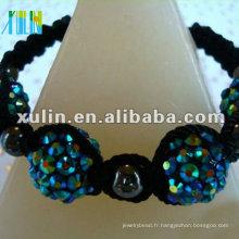 2012 nouveau bracelet shamballa avec billes de billes aimantées XLSBL002