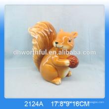 Nova chegada! Decoração cerâmica encantadora barata do esquilo para a decoração home