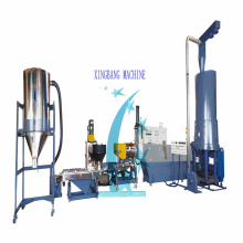 Waste plastic film recycling granulator