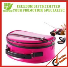 O poliéster da tela dobra acima sacos cosméticos relativos à promoção dos sacos cosméticos