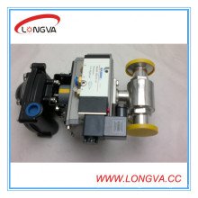 Wenzhou Stainless Steel 3 Way Ball Valve with Actuator