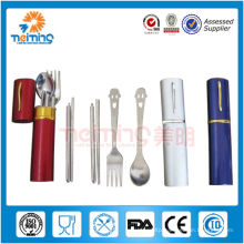 promotional product stainless steel camping dinnerware set