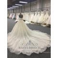 Vestido de novia sin mangas del vestido de boda noble noble árabe de la princesa vestido 2018 de la novia