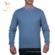 Benutzerdefinierte langärmelige Pullover Männer geschlossen