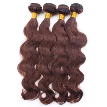 Top virgem humana tecer cabelo do corpo das mulheres indianas