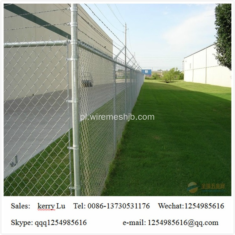 Pvc Coated Basketball Playground Chain Link Fence