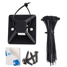 Abrazadera de cables adhesiva fuerte para soportes de abrazadera de cables