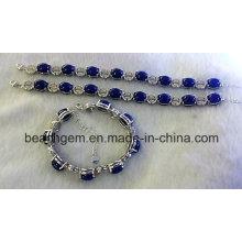 Bracelet argent Lapis de bijoux-mode (BR0058)