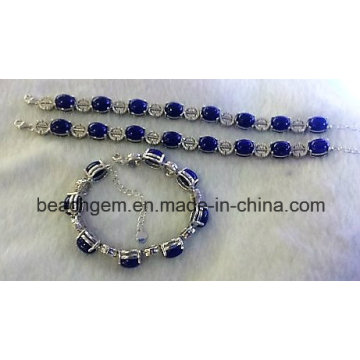 Joyería pulseras plata Lapis (BR0058)