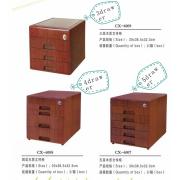 Office 3/4/5 lådor trä arkivskåp