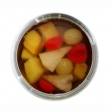 Canned fruit cocktail/mixed fruits in light syrup or in heavy syrup in tin pacakge/glass jar package china origin ingredients