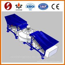 Nouveau conditionnement 20-25m3 / h usine de mélange de béton mobile, plante de mélange de béton.Centre béton